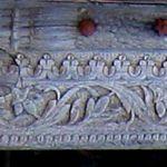 Panel from antique door surround