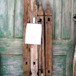 Legs from antique dowry chests used to make custom buffet cabinet legs