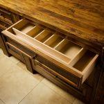 Custom island drawer insert
