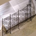 Custom winding stair rail piece