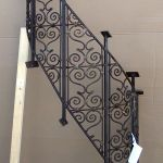 The panels were made in pieces to create the custom winding stair rail