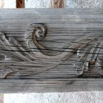 Antique panel with carving