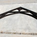 Truss made of salvaged heavy timbers