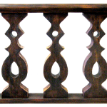 custom baluster made with salvaged lumber