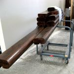 Salvaged lumber rail caps