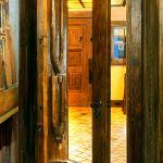 Door with operable shutter