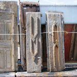Antique Nuristani carved goat head door