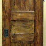 Rustic pocket door back