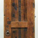 Back of rustic bath door