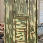 Back of of antique Mexican door with shutter