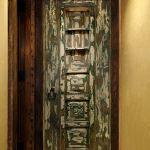 Interior door with shutter