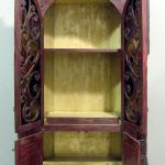 Interior shelves in entertainment cabinet