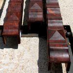 Wood beam carving detail