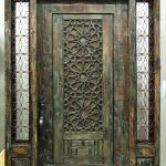 Entry with sidelights and antique door