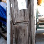 Antique Mexican door used to make custom exterior door