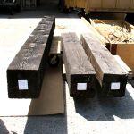 Set of three heavy timber mantels
