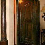 Built-in antique column accent