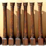 Set of eight antique columns