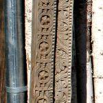 Detail of antique carved door surround