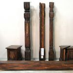 Antique column architectural accents