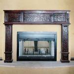 Fireplace mantel and surround installation