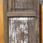 Antique Mexican door used to make closet door