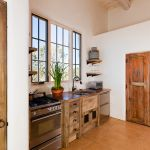 Custom kitchen with rustic shelves
