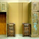 Refrigerator and pantry cabinets