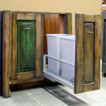 Recycle center cabinet
