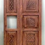 Carved wood refrigerator. panels