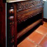Detail of custom vanity