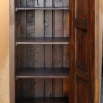 Interior of bath linen cabinet