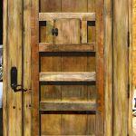 Custom front door with speakeasy