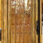 Custom front door with peep door
