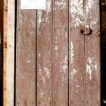 Antique door used in custom front entry