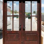 French doors with astragal