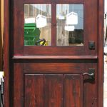 Custom red Dutch door