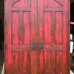 Back of custom double doors