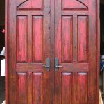 Front of custom double doors