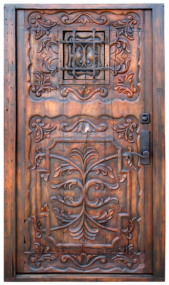 Carved Door With Grilled Peep La Puerta Originals
