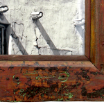 Detail of primitive picture frame