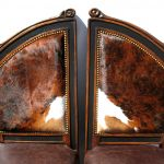 Cowhide upholstered chairs