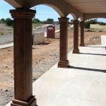 Portal columns during installation