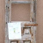 Antique door used to make door with shutter