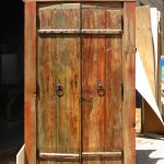 Back of antique colonial Egyptian doors