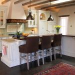 kitchen island in remodeled kitchen