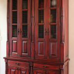 Custom red hutch installation