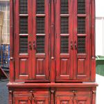 Custom red hutch details