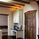 Solid wood kitchen desk