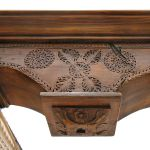 Detail of corbel and column mantel